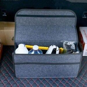 Image 4 - 50*17*24cm 자동차 트렁크 주최자 자동차 스토리지 가방화물 컨테이너 상자 내화 Stowing 깔끔한 홀더 멀티 포켓 자동차 스타일링