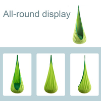 Home Outdoor Comfortable Space Saving Swing Pod Children Hammock Chair Indoor Zipper Air Cushion Tree Roof Hanging Seat