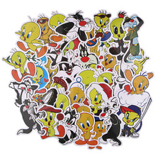 Stickers for Notebook Case R1022 Bird Silly Cat DIY Ransitute Creative Cartoon-Style