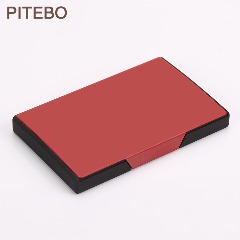 PITEBO Business Fashion Men and women business card box, high-end, ultra-thin, pocket-sized creative card box ,Easy Convenience