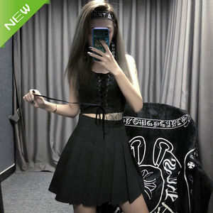Casual Women Pleat Skirt Cosplay Anime JK Plaid Skirts Japan Style School Girl Uniforms Short Dress
