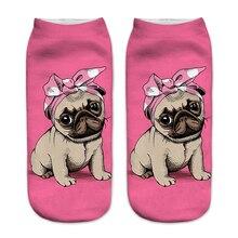 New 3D Printing Women Socks Fashion Unisex Socks Meias Femin