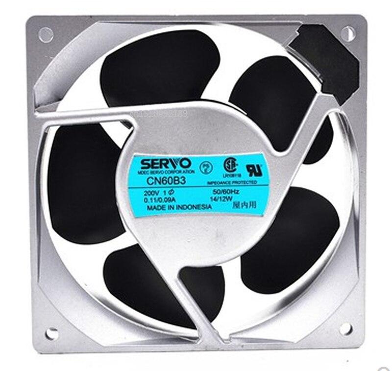 Free Shipping Original SERVO CN60B3 200V 14 / 12W 120 * 120 * 38 High-end Equipment Fan