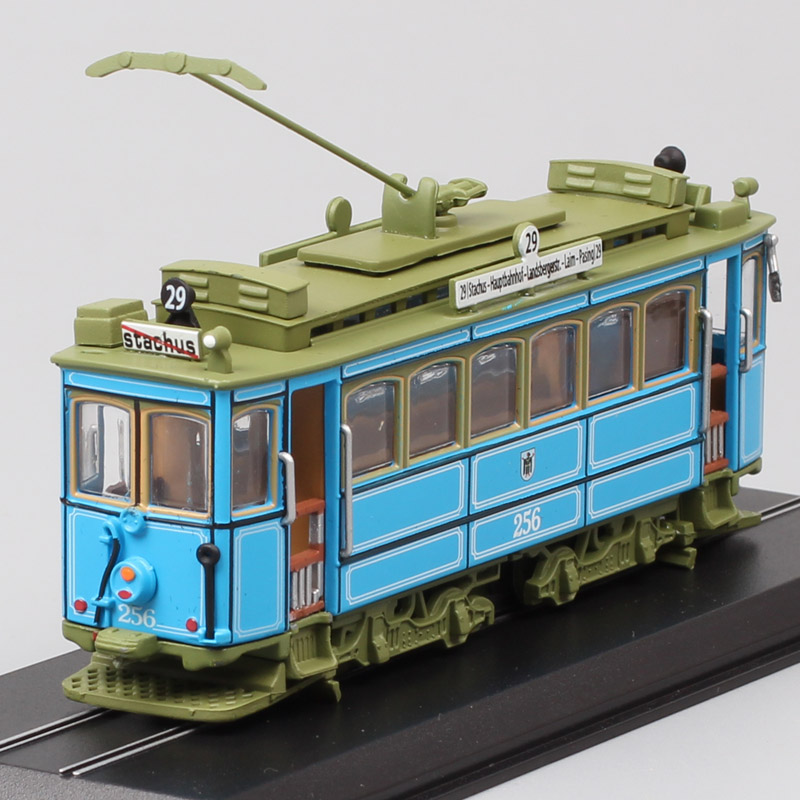 1:87 Scales Mini Vintage A2.2 Rathgeber 1901 Germany Munich Streetcar Tram Cars Diecast Toys Vehicle Model Miniature Atlas Gifts