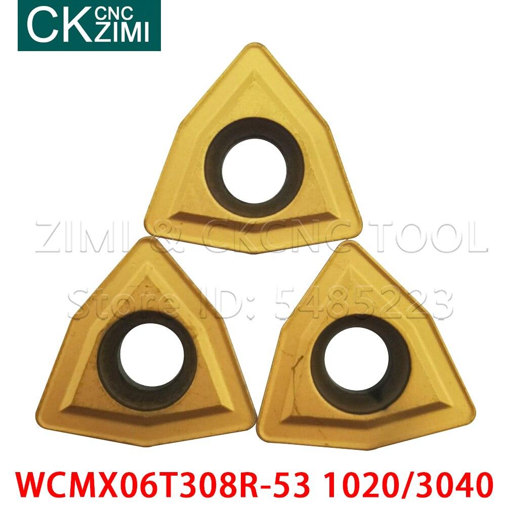 SANDVIK WCMX050308R-53 1020 U drill carbide inserts 10PCS