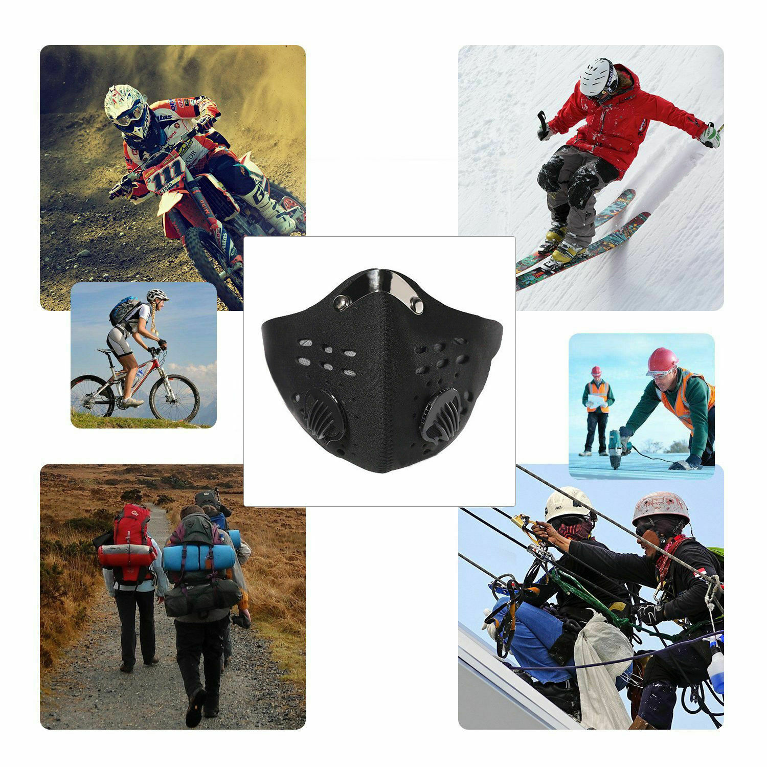 Image 4 - Activated Carbon Masks Dustproof Face Mask Black Men Women Muffle Outdoor Cycling Mouch MasksWomens Masks