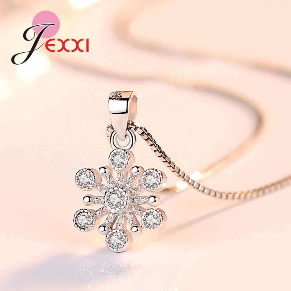 Mode Dubai Schmuck Set 925 Sterling Silber Sparkling Ice Blume Anhänger Halskette Ohrringe für Frauen Hochzeit/Engagement Party