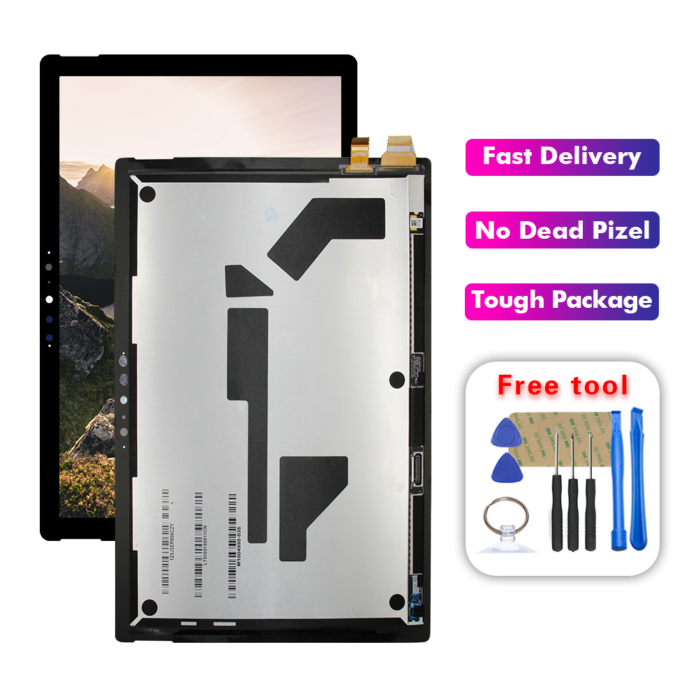 100% Test For Microsoft Surface Pro 7 1866 LCD Display Touch Screen Digitizer Glass  Assembly