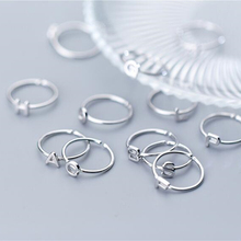 цена на 925 Sterling Silver Old Silver Craftsman Handcrafted 26 Letters Simple Classic Trendy Lady Cocktail Opening Adjustable Jewelry