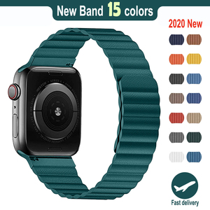 PU Leather loop strap For apple watch band 44mm 40mm Replacement iWatch series 6 5 4 3 2 watchbands bracelet 42mm 38mm Wristband