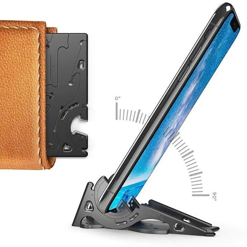 Stabilize Foldable Phone Holder Card Type Portable Rotation Convenient Home Stable Universal Pocket Tripod Adjustable Support