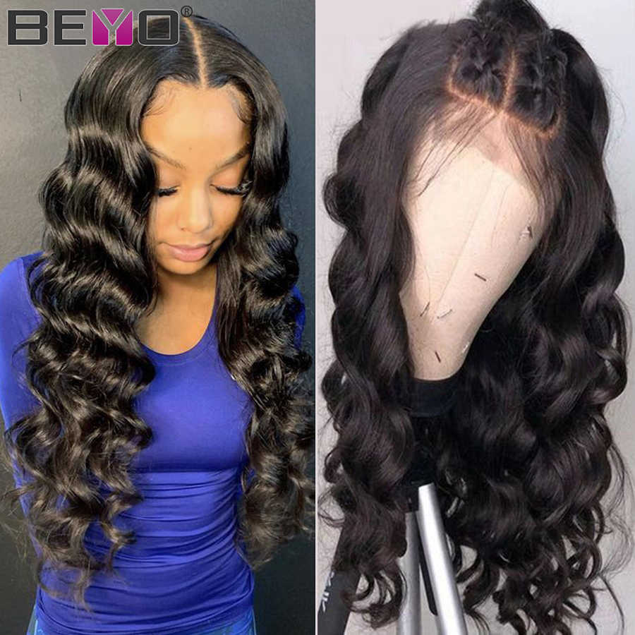 Brazilian Loose Wave Wig 13X6 Lace Front Human Hair Wigs For Black Women 13X4 Lace Front Wig Beyo Remy Preplucked Lace Wig
