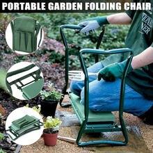 Kneeler jardim alças dobrável cadeira fezes ferramenta de jardim com saco de armazenamento bolsa portátil ferramenta para ferramentas de jardinagem toolkit