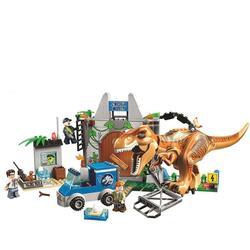 10920 świat jurajski dinozaury tyranozaur Breakout 168 sztuk klocki prezenty kompatybilne z Jurassic zaparkowany