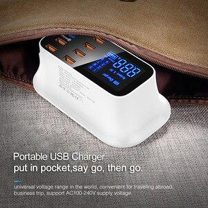 Image 5 - KSTUCNE 8 พอร์ต USB PD Charger HUB Quick Charge 3.0 จอแสดงผล LED USB สถานีชาร์จโทรศัพท์มือถือ Desktop Wall home EU Plug
