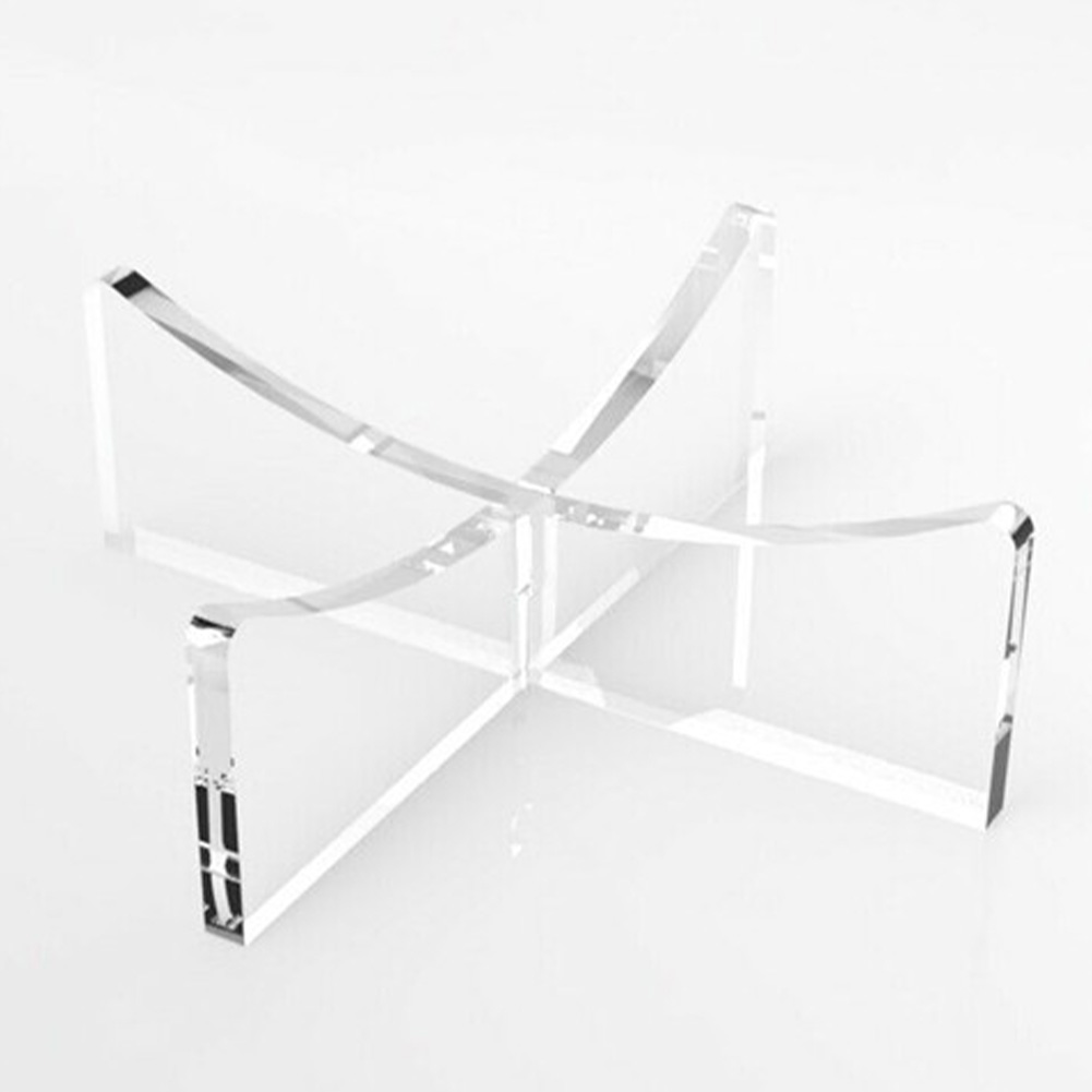 Stable Storage Rack Volleyball Riser Plinth Acrylic Football Stand Transparent Signable Freestanding Display Holder Home Decor