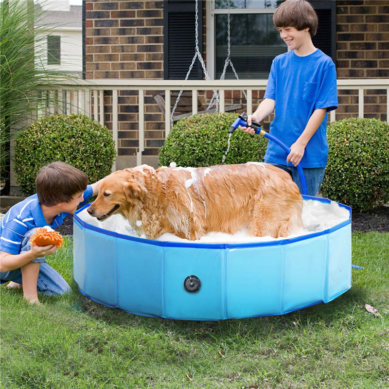 Foldable Children's Swimming Pool Animal Bathtub Thickening Material Dog Bath Basin Pet Bathtub Baby Ocean Ball Pool