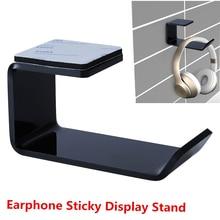 Headset Holder Earphone Wall-Mounted Hanger Sticker Under-Desk-Hook Sticky-Display-Stand