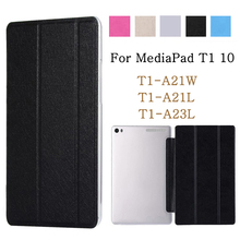 For Huawei MediaPad T1 10 T1-A21W T1-A21L T1-A23L 9.6 Tablet Case PU Leather Smart Stand cover funda For Huawei Mediapad T1 10