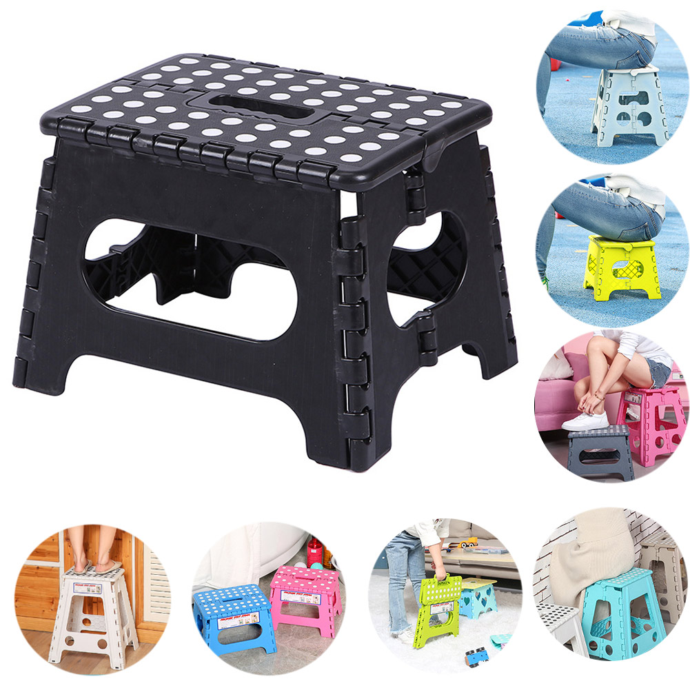 Foldable Step Stool Lightweight Plastic Step Stool Non Slip For Kitchen Bathroom Bedroom Escalon Plegable HTQ99