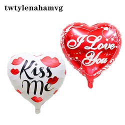 Red I LOVE YOU KISS ME Love Peach Party Balloon Mother's Day Easter New Year Christmas Wedding Valentine's Day Foil Ballon