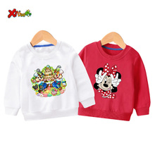 2019 children cute sweatshirt Kids hoodie toddler Pullover Minnie Mouse fashion white for boy mickey mouse clothing