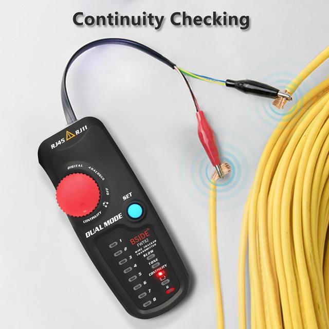 Testeur professionnel de traqueur de câble de réseau FWT82 RJ45 RJ11 fil téléphonique Toner Ethernet LAN traceur analyseur détecteur de ligne