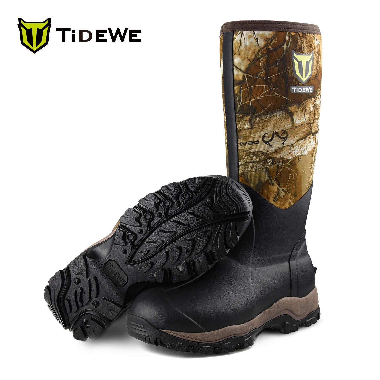 de de Edge bottes Realtree 400G haut caoutchouc pour hommes chasse 40cm TideWe néoprène et extérieure Durable botte 6mm camouflage imperméable isolé kXiOZPu