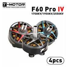 4 pçs/lote T-motor F60 Pro IV IIII Geração 4 2207 1950KV 2550KV 5-6S Motor Brushless T5146 T5150 Adereços para Corridas de RC FPV Zangão