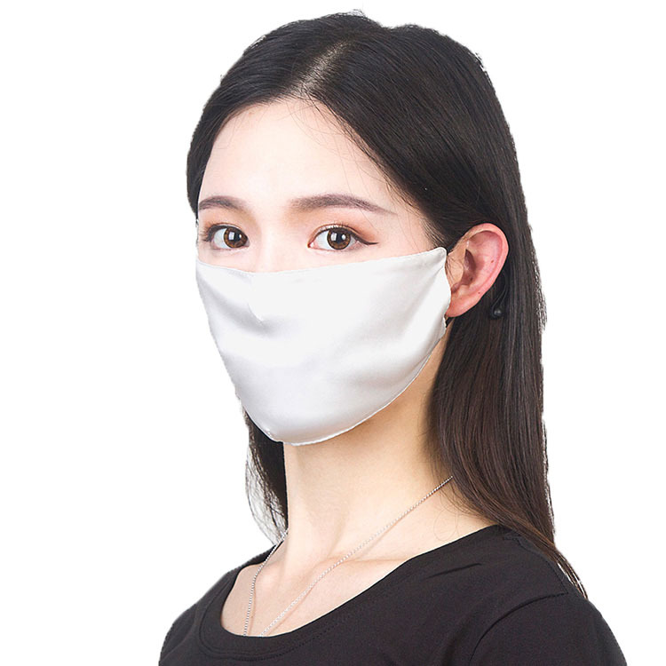 Double Layer Mulberry Silk Mask Silk Breathable Four Seasons Sunscreen Dustproof Silk Mask Skin Care Mask