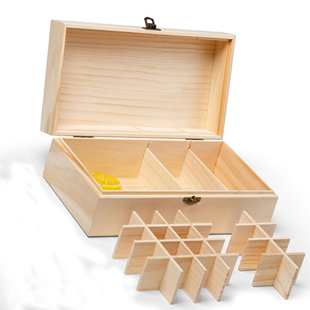 Detachable Grid Wooden Essential Oil Home Storage Box Storage Case Holder Container Organizer Easy Transport Damaging Sunlight