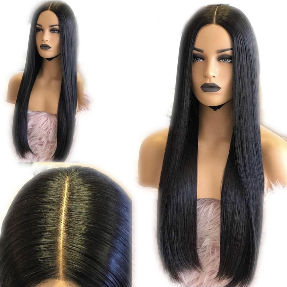 SimBeauty Deep Part 13x6 Lace Front Wigs With Baby Hair Pre Plucked Remy Long Straight Human Hair Wig Brazilian Natural Hairline