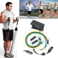 11 шт. набор тяговых канатов для йоги, фитнеса, резистивных лент, пилатеса, эластичный Тяговый канат, оборудование для тренировок, тренировки,...