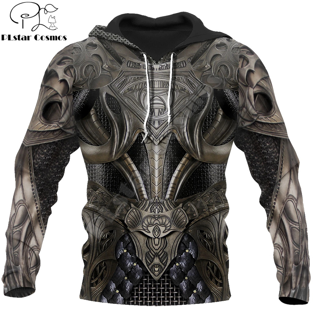 3D Printed Chainmail Knight Armor Men Hoodie Knights Templar Harajuku Fashion Jacket Pullover Unisex Cosplay Hoodies QS-005