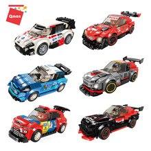 Qman cidade técnica carro de corrida blocos de construção esportes racer 6 estilos velocidade veículo tijolos brinquedos com 1119 peças