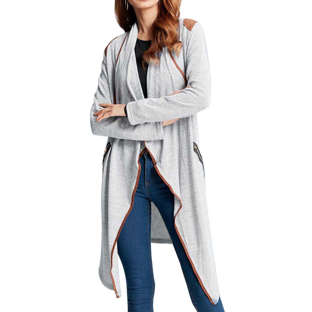 Womens Knitted Jacket Casual Long Sleeve Tops Cardigan Coat Outwear Plus Size Outerwear Autumn Winter Overcoat Loose Jacket Coat