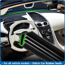 160cm Universal Car Windshield Sealant Dashboard Soundproof Rubber Seal Strip Auto Rubber Seals Car Panel Seal car Accessories