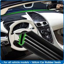 Tira de vedação para para brisa de carro, 160cm, universal, à prova de som, vedação de borracha, vedação de painel de carro, acessórios de vedação