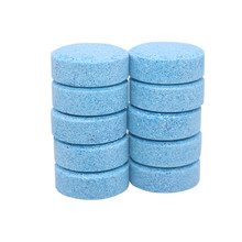 Gorąca sprzedaż akcesoriów samochodowych wycieraczka lita do czyszczenia szyb samochodowych do czyszczenia szyb samochodowych skoncentrowany musujący tabletki tanie tanio CN (pochodzenie) latex Solid wiper 10 5 1 Pcs blue concentrated solid as shown 2 grams 1 tablet plus 5 liters of water