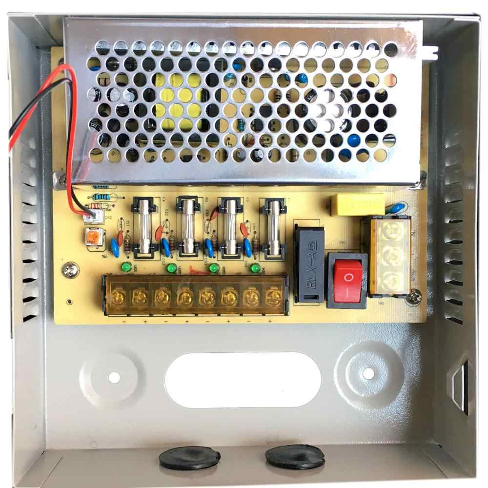 Cctv Voeding 4CH Poort Doos, Verdeeld Voeding Voor Cctv Dvr Beveiliging Systeem En Camera 'S, output 12V 5A 60W Maximale