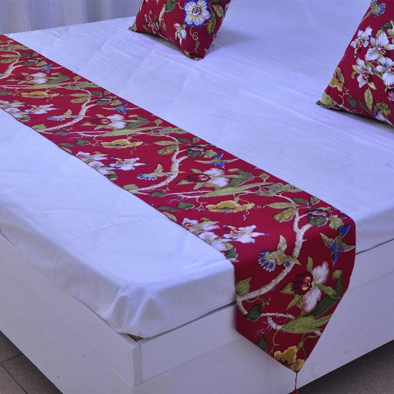 Пасторальный стиль Магнолия-звезда кровать бегун декоративная ткань конец Полотенце покрывало матрас настраиваемый настольная дорожка