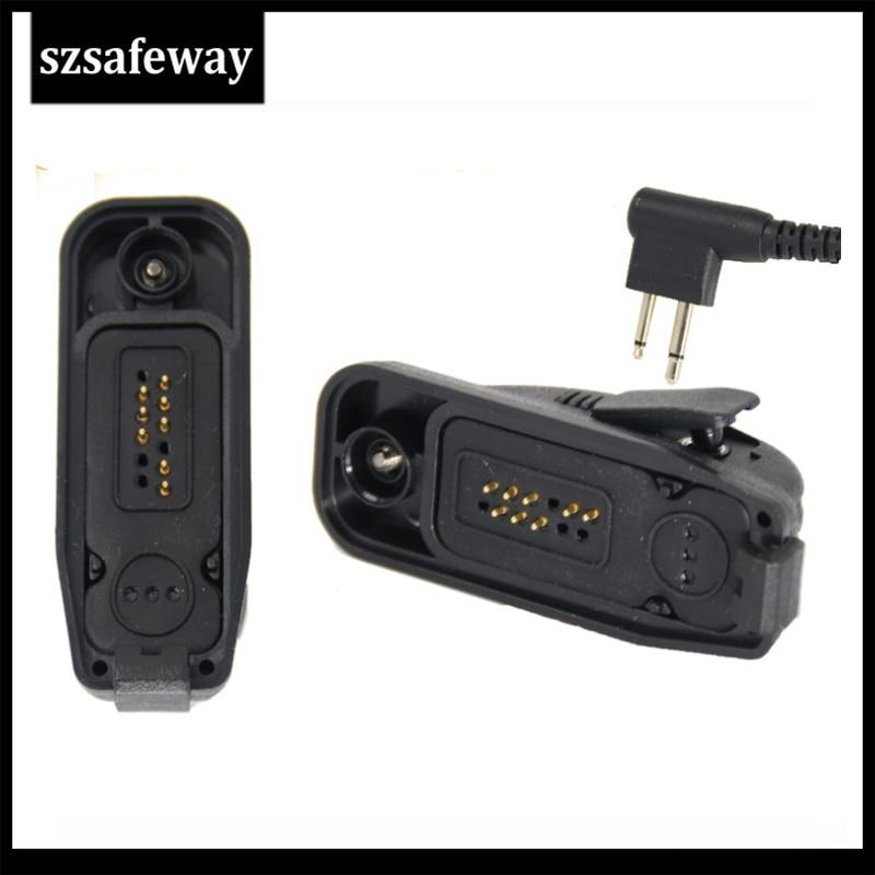 Headset Audio Adapter Converter For Motorola Two Way Radio XiR P8208 XiR P8200 XiR P8260 XiR P8268 Walkie Talkie