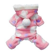 Горячая-Pet четыре фута плюшевая Одежда для собак(розовый L