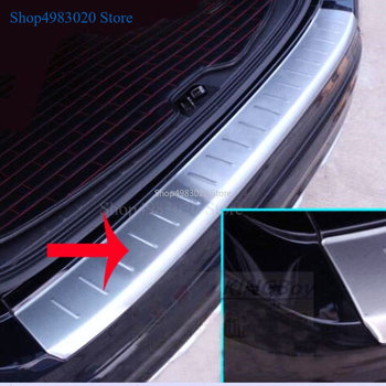 Car Styling Stainless Steel Outer Rear Bumper Trunk Fender Door Sill Plate Protector Guard Covers For Volvo XC60 XC 60 2009-2015 image