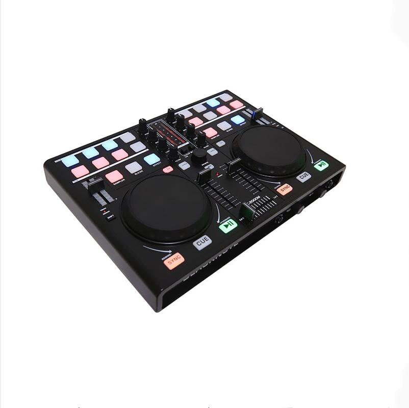 BLACKNOTE DJ Controller To Play Disc Players Mixing MIDI Controller Computer Sound Mixer Mixing Console Audio Mixer