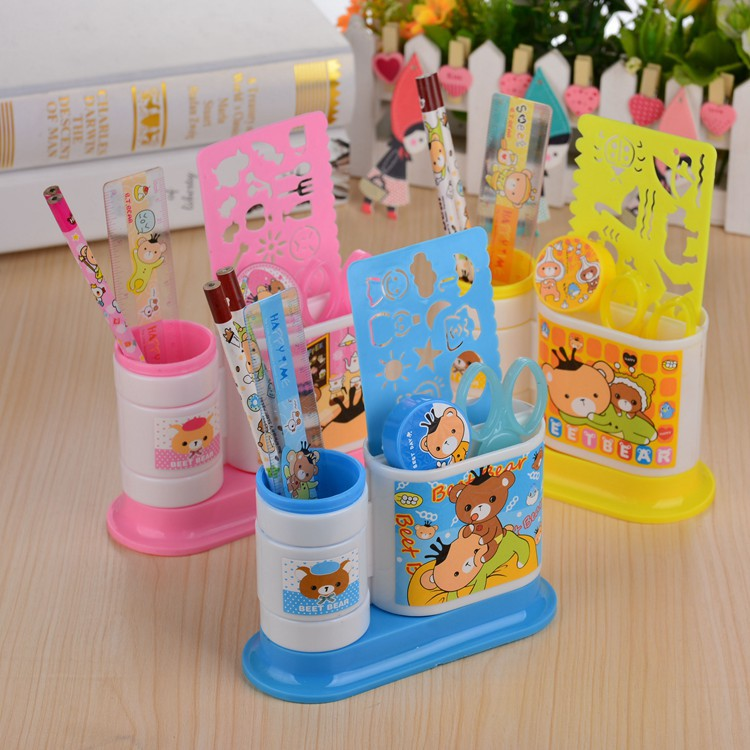 Multi-functional Rotating Pen Container 8007 Children Creative Stationery Pen Container Set Young STUDENT'S Prizes Gift Wholesal