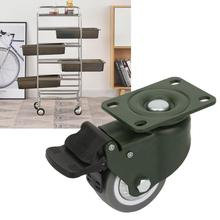 3 Inches Swivel Casters Rubber Castor Trolley Wheel Industrial Caster fit speakers cabinets stands amps