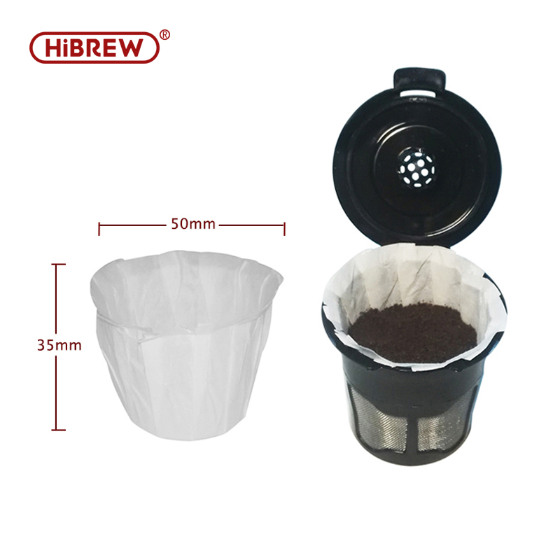 300 Piece Coffee Powder Filter White Cake Cup For Milk Tea Coffee Powder Basket Coffee Filter Papers
