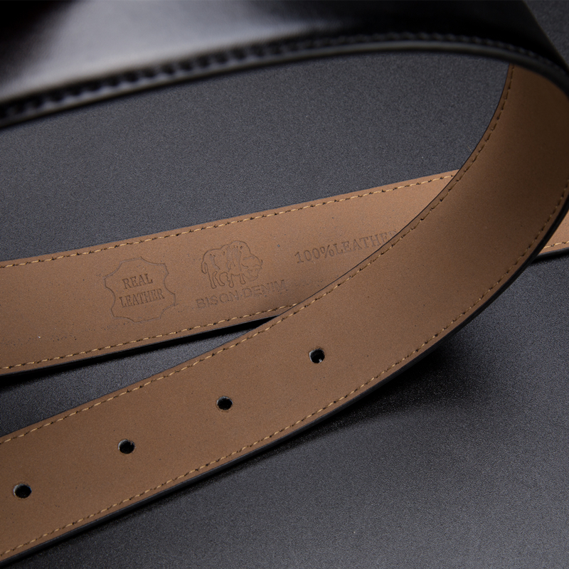 Image 5 - BISON DENIM  Genuine Leather Belt for Men Fashion Classic Pin Buckle Male Belt Business Luxury Strap High Quality W71123-in Men's Belts from Apparel Accessories on AliExpress