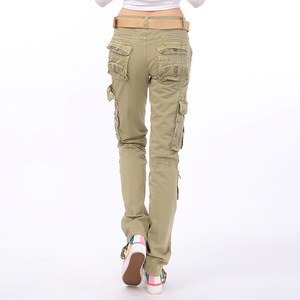 Image 5 - Pantalon de Camouflage militaire pour femmes, Pantalon Cargo de pêche à stretch, Safari, Pantalon de voyage pour dames, Pantalon droit multi poches